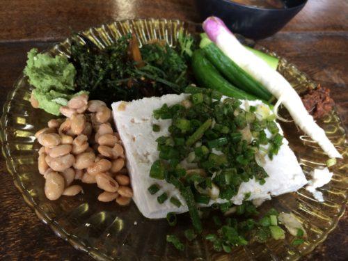 自家製の豆腐や納豆